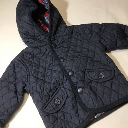 Navy Quilted Coat 0-3 Months